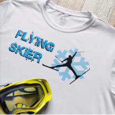 Flying skier