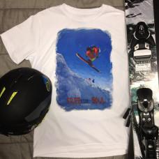 Дроп на лыжах в стиле масло