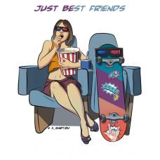 Девушка и скейт в кино