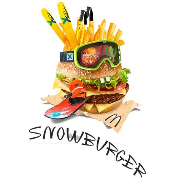 Экстремальная футболка - Снежный бургер - коллекция комикс от X-shirt.ru