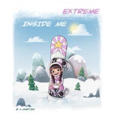 Экстремалка сноубордистка внутри меня
