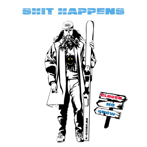 Экстремальная футболка - Катай Форест катай на горных лыжах - коллекция мемы от X-shirt.ru