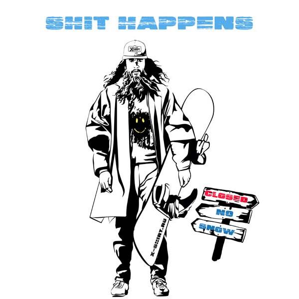 Экстремальная футболка - Катай Форест катай на сноуборде - коллекция мемы от X-shirt.ru