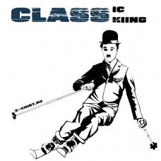 Чарли Чаплин на горных лыжах