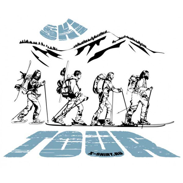 Экстремальная футболка - Скитур от Битлз - коллекция мемы от X-shirt.ru