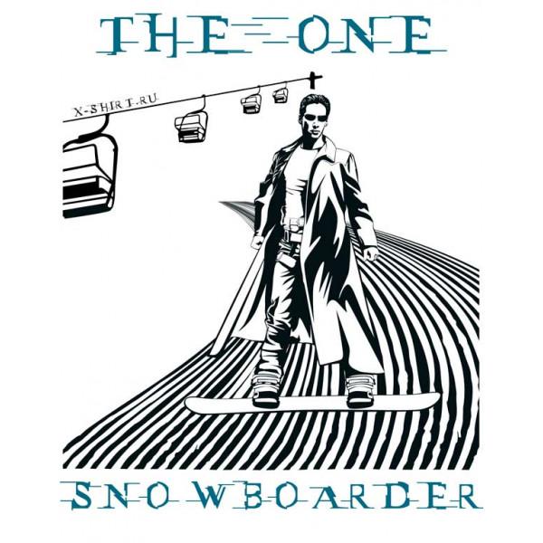 Экстремальная футболка - Избранный сноубордист - коллекция мемы от X-shirt.ru