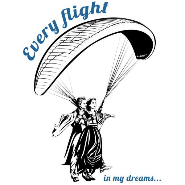 Экстремальная футболка - Every flight in my dreams - коллекция мемы от X-shirt.ru
