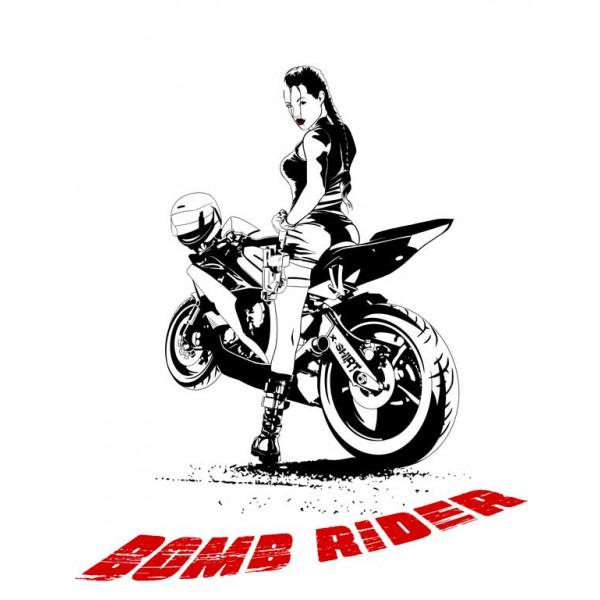 Экстремальная футболка - Bomb rider - коллекция мемы от X-shirt.ru