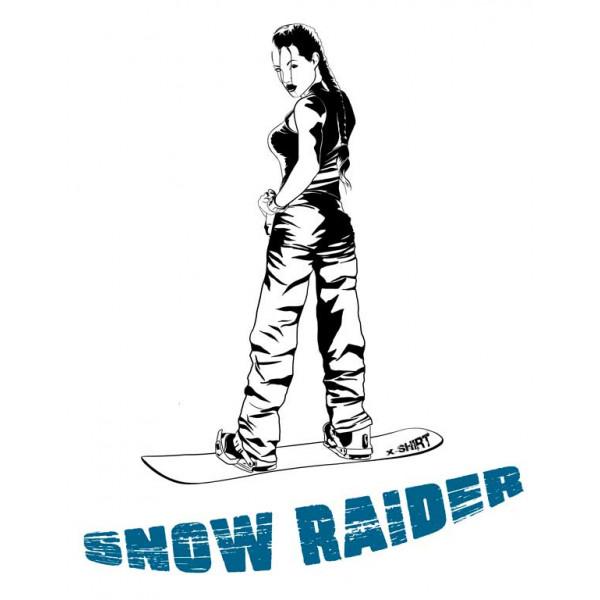 Экстремальная футболка - Расхитительница снега - коллекция мемы от X-shirt.ru