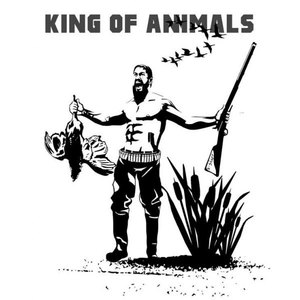 Экстремальная футболка - Охотник - царь зверей - коллекция мемы от X-shirt.ru