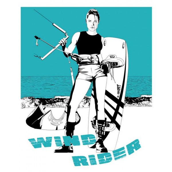 Экстремальная футболка - Wind rider - коллекция мемы от X-shirt.ru