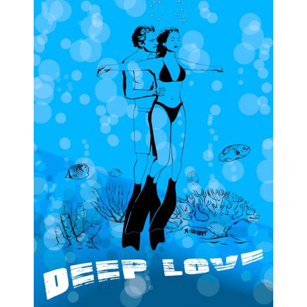 Экстремальная футболка - Deep love - коллекция мемы от X-shirt.ru
