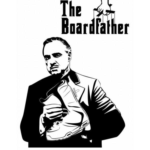 Экстремальная футболка - Отец сноуборда - коллекция мемы от X-shirt.ru