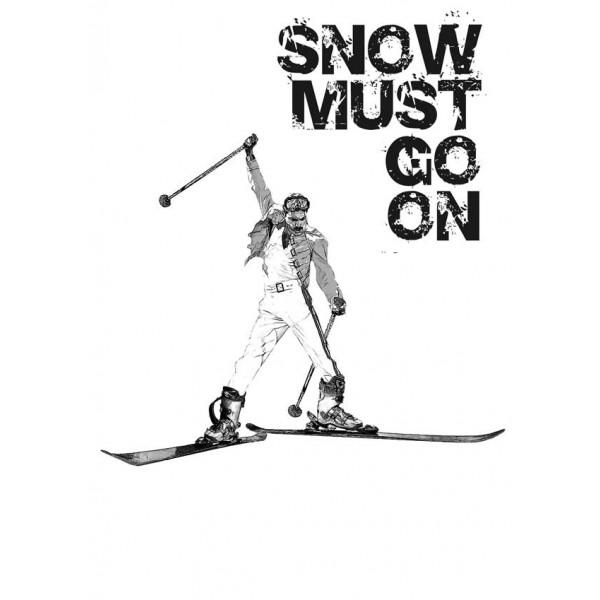 Экстремальная футболка - Snow must go on - коллекция мемы от X-shirt.ru