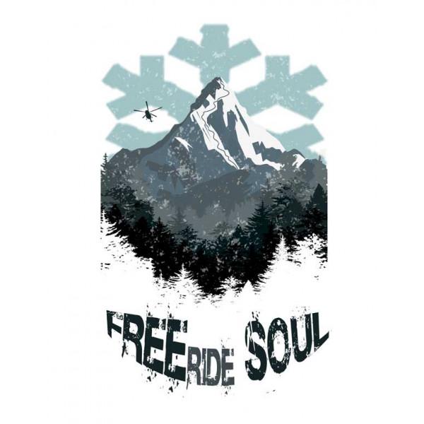 Экстремальная футболка - FREEride SOUL - коллекция mix от X-shirt.ru