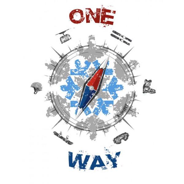 Экстремальная футболка - One way - коллекция mix от X-shirt.ru