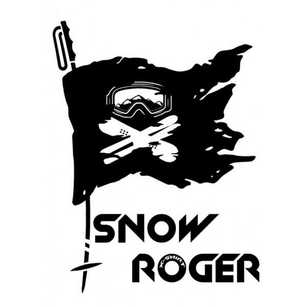 Экстремальная футболка - Snow roger - коллекция mix от X-shirt.ru