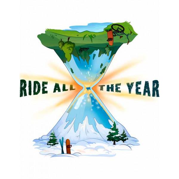 Экстремальная футболка - Ride all the year - коллекция mix от X-shirt.ru