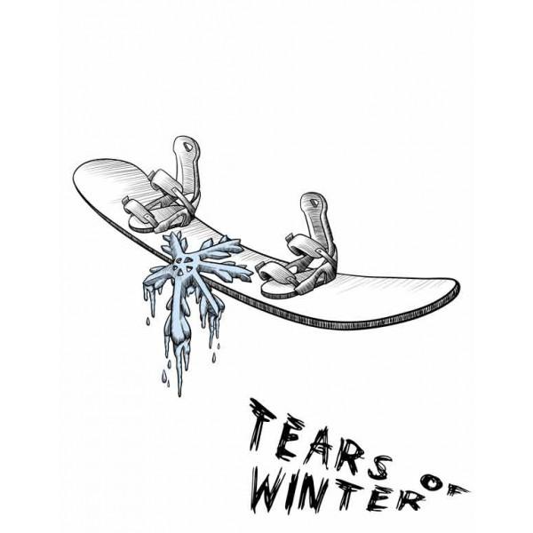 Экстремальная футболка - Слезы зимы - коллекция mix от X-shirt.ru