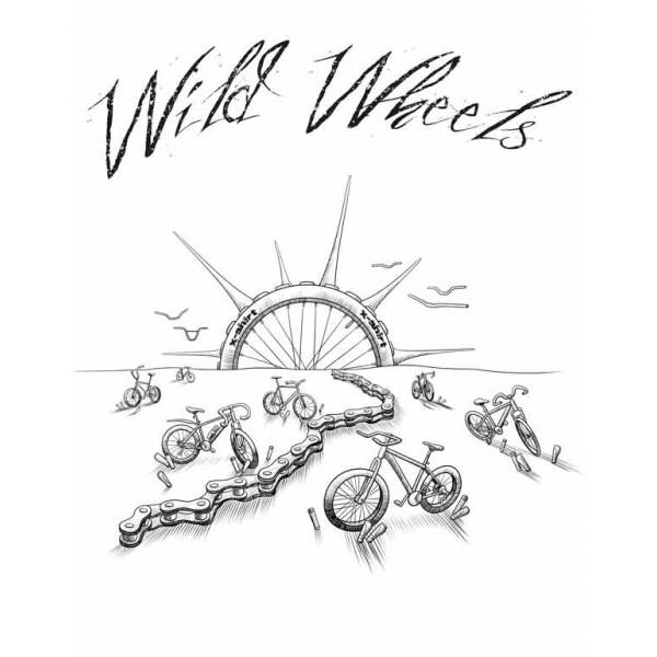 Экстремальная футболка - Wild wheels - коллекция mix от X-shirt.ru