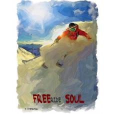 Горнолыжник в стиле масло - FREEride SOUL