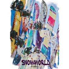 Сноуборды в ряд в стиле масло