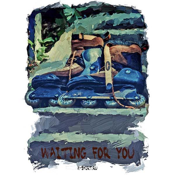 Экстремальная футболка - Ролики в стиле масло - коллекция масло от X-shirt.ru