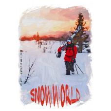 С лыжами на плече