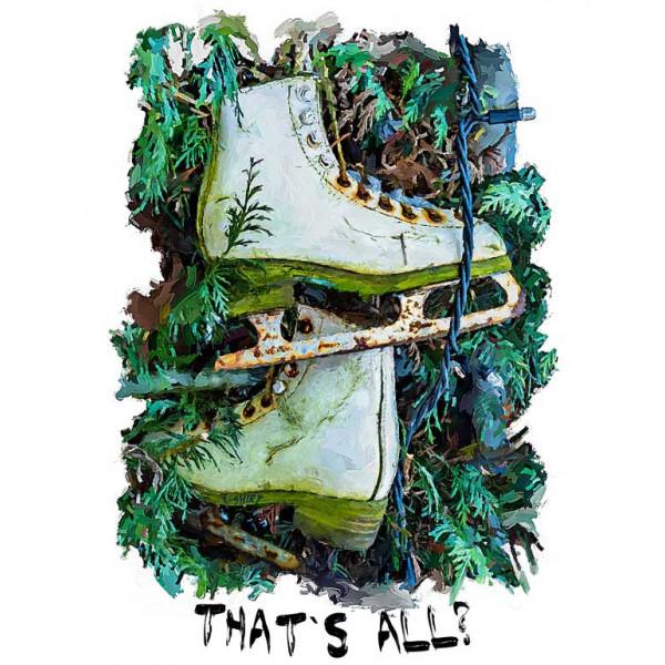 Экстремальная футболка - Ржавые коньки на елке - коллекция масло от X-shirt.ru