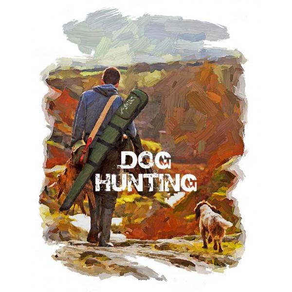 Экстремальная футболка - Охота с собаками в стиле масло - коллекция масло от X-shirt.ru
