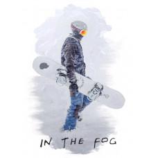 Сноубордист в тумане