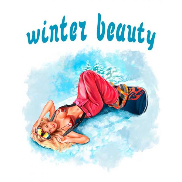 Экстремальная футболка - Красота зимы - сноуборд - коллекция комикс от X-shirt.ru