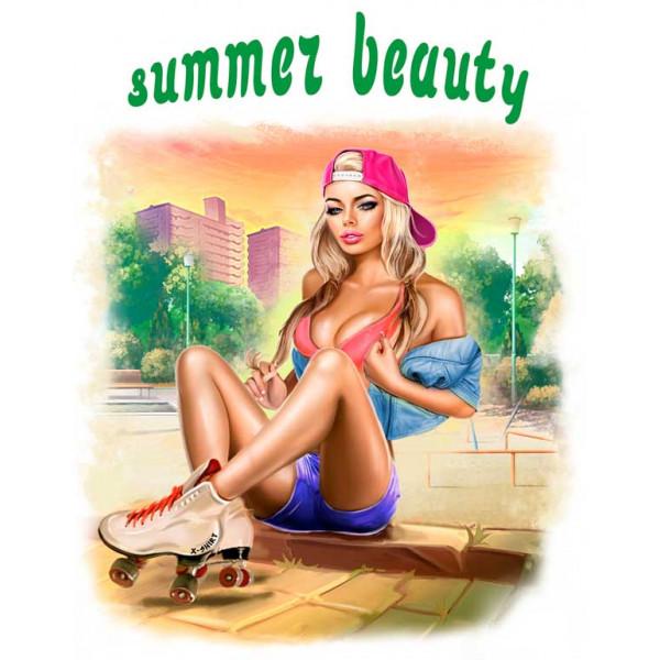 Экстремальная футболка - Красота лета - ролики - коллекция комикс от X-shirt.ru