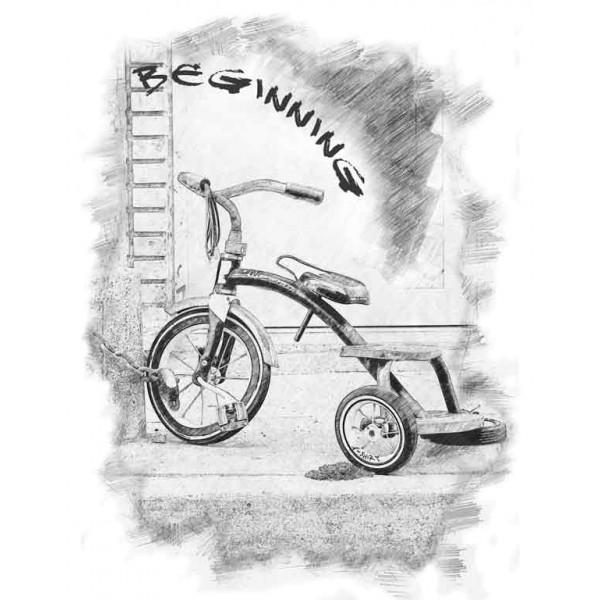 Экстремальная футболка - Велосипед - начало - коллекция скетч от X-shirt.ru