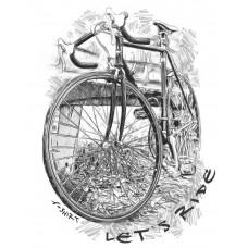 Шоссейный велосипед в стиле скетч