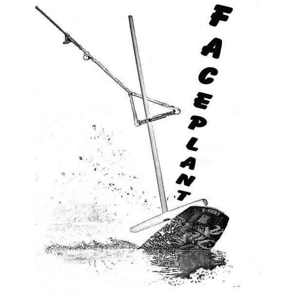 Экстремальная футболка - Faceplant вейкборд - коллекция скетч от X-shirt.ru
