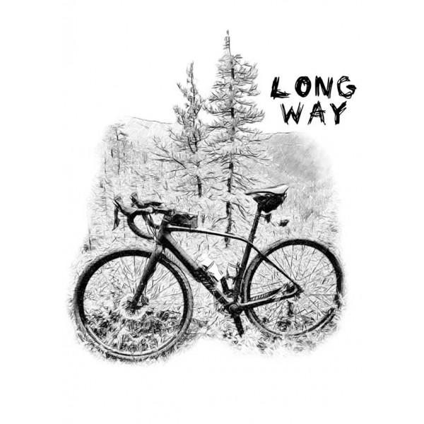 Экстремальная футболка - Long way - коллекция скетч от X-shirt.ru