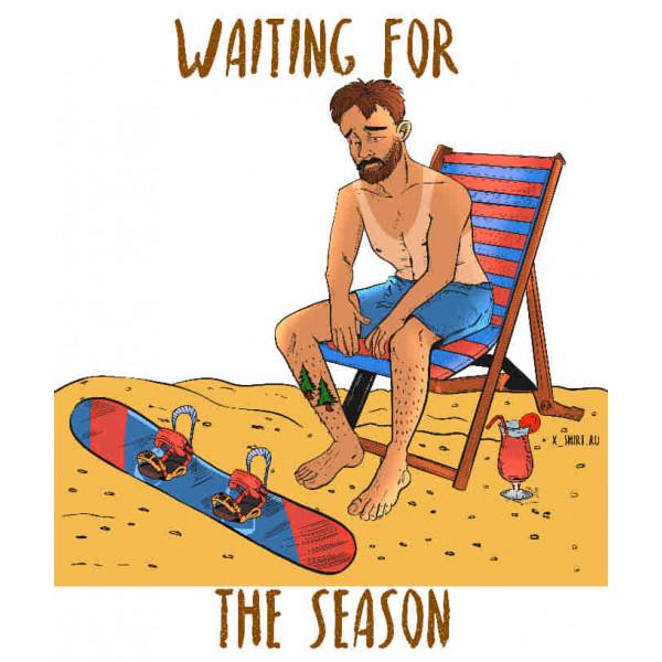 Экстремальная футболка - Сноубордист на пляже - коллекция комикс от X-shirt.ru