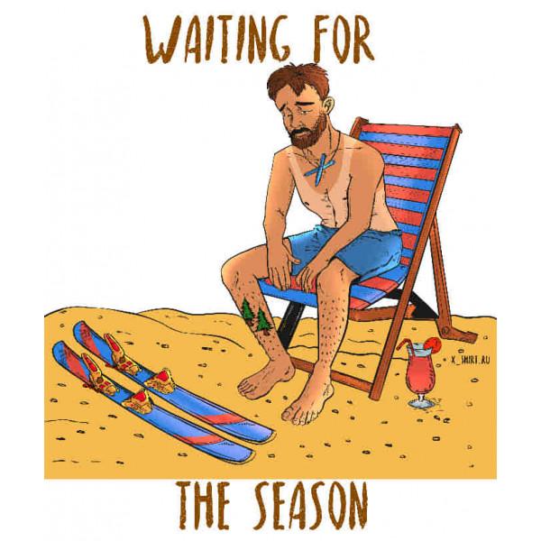 Экстремальная футболка - Горнолыжник на пляже - коллекция комикс от X-shirt.ru
