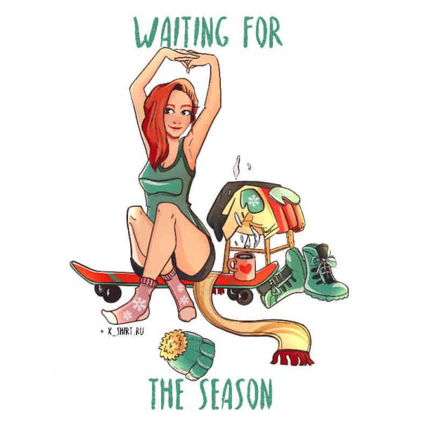 Экстремальная футболка - Скейтбордистка ждет сезон - коллекция комикс от X-shirt.ru